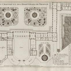 Plan à la fin du règne de Louis XIV