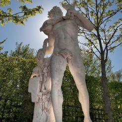 Statue du Faune au chevreau, bosquet de la Reine