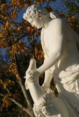 Statue de Cyparisse et son cerf