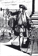 Trompette baroque : dépourvue de pistons, elle n'émet que des harmoniques obtenues par pression plus ou moins forte des lèvres, et plus nombreuses dans les aigus