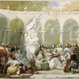 Concert dans le bosquet de la colonnade à Versailles, Eugène Lami (1800-1890)