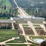 Bassin du Fer à cheval, jardins et château
