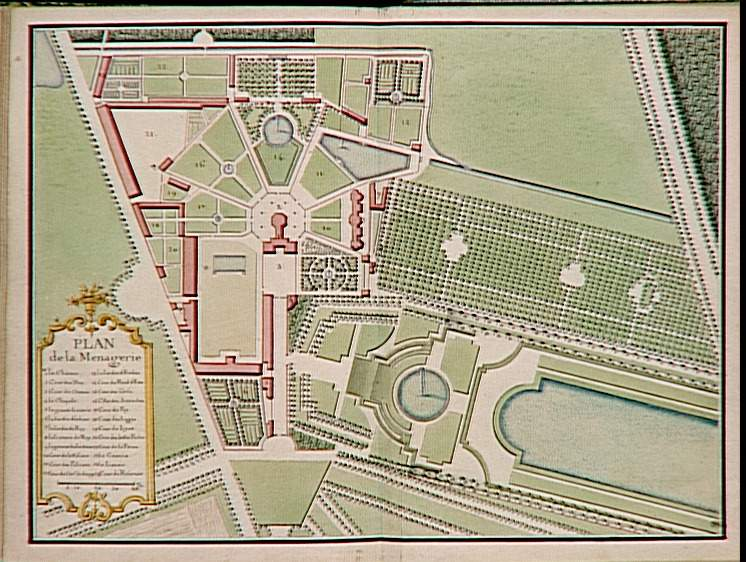 M nagerie jardins de versailles plan andr le n tre for Exposition jardin versailles 2015