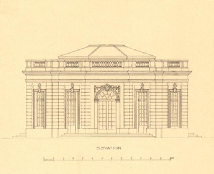 pavillon fran ais jardin du petit trianon jardins de versailles dessin d architecte du xxe. Black Bedroom Furniture Sets. Home Design Ideas
