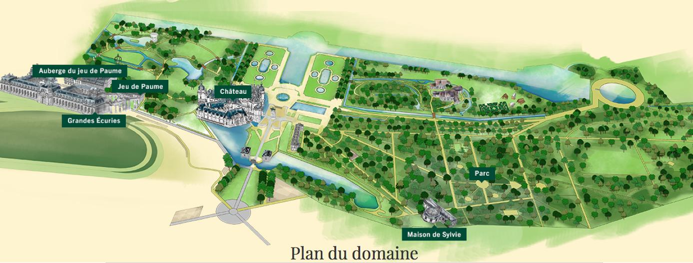 Plan du parc de chantilly andr le n tre - Nouvelle piscine douai ...