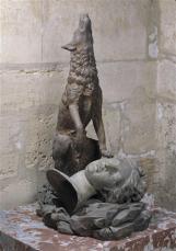 Le loup et la tête