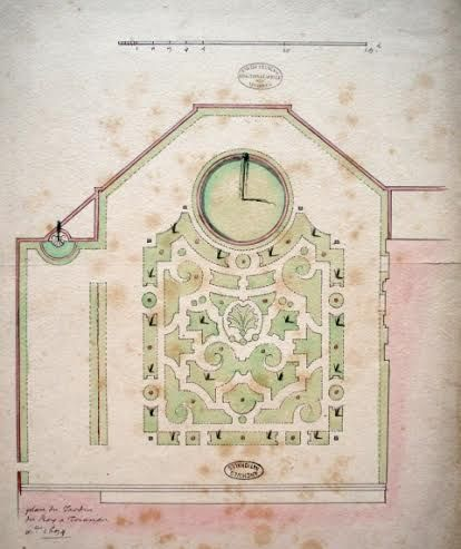 Plan du Jardin du Roy à Trianon en 1694