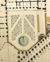 Plan du château, des Parterres hauts, du jardin du Roi et des sources de Trianon, entre 1703 et 1710 (détail de la retombe du nouveau parterre quadripartite du jardin du Roi)