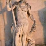 Bacchus – nu, drapé, couronné de pampres, Aile du Nord