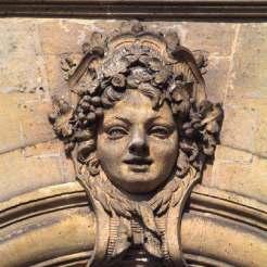 Bacchus – couronné d'un diadème en forme de cartouche et de pampres, Aile de Trianon-sous-bois sur le Jardin des sources