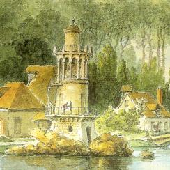 Vue par Claude-Louis Chatelet, avant la Révolution