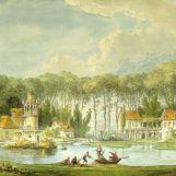 Hameau prise en avant de l'étang – 1786 - par Chatelet