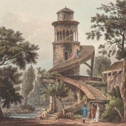 Vue par John Claude Nattes, au début du XIXe siècle