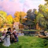 Hameau par Emile-Charles Dameron (1848-1908)