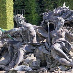 Neptune et son épouse Amphitrite sur leur char marin