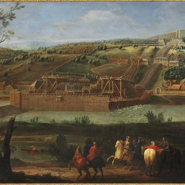 Machine de Louis XIV inaugurée en 1684, vue ici en 1723