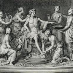 Apollon servi par les nymphes