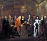 Louis XIV reçoit à Fontainebleau le Prince électeur de Saxe Frédéric Auguste le 27 septembre 1714, Louis Silvestre