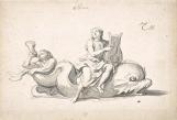 Premier parterre d'Eau du château, goule sculptée