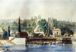 Machine de Louis XIV au premier plan et de la pompe à vapeur Martin et Cécile au deuxième plan mise en service en 1827