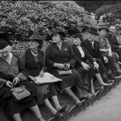 Visite du roi George VI en 1938 : spectateurs