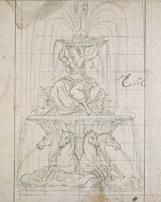 Projet de parterre d'Eau, fontaine destiné à un des angles extérieurs