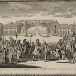 Louis XIV reçoit à Versailles le Roi Jacques II