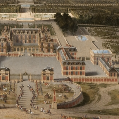 Vue du château et des jardins de Versailles, prise de l'avenue de Paris en 1668, par Pierre Patel