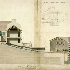 """2e machine, dite """"provisoire"""", entrée en fonctionnement dès 1811"""