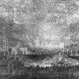 Visite de la reine Victoria en 1855 : feu d'artifice