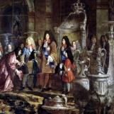 Réparation faite à Louis XIV par le doge de Gênes, le 15 mai 1685 (détail), Claude‑Guy Hallé, 1710