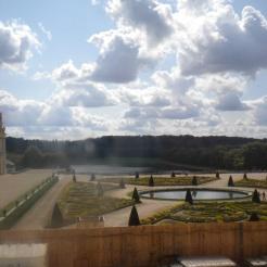parterVue sur le parterre du Midi depuis la Salle des Gardes de la Reine