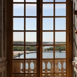 Vue du parterre d'Eau et du Grand canal depuis la Galerie des Glaces