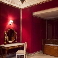 ancienne petite bibliothèque du roi, devenue salle de bains de l'épouse du chef d'État étranger dans les années 1960