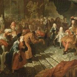 Réception de l'ambassadeur extraordinaire du Shah de Perse Tahmasp II, 19 février 1715, Antoine Coypel (attribué à)