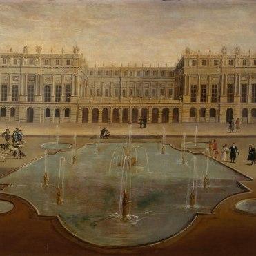 Vue du château de Versailles, du côté des jardins, avant 1678