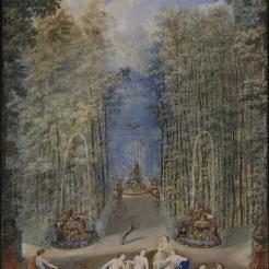 Le plus célèbre : le bosquet du Labyrinthe - auj. Bosquet de la Reine