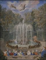 Le plus simple : le bosquet des Sources d'Eau - auj. bosquet de La Colonnade