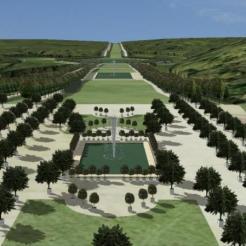 Meudon (perspective reconstituée en 3D)