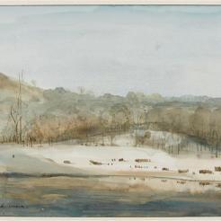 Bords de la pièce d'eau des Suisses à Versailles, F.-M. Granet