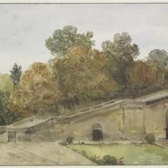 Les cent marches de l'Orangerie de Versailles, F.-M. Granet