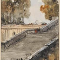 Escalier de l'Orangerie de Versailles, F.-M. Granet