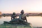 Statue de la Nymphe à la corne d'abondance