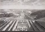 Meudon : grande Perspective de Meudon, vers 1685. Vue depuis le haut de l'Orangerie, Israël Silvestre