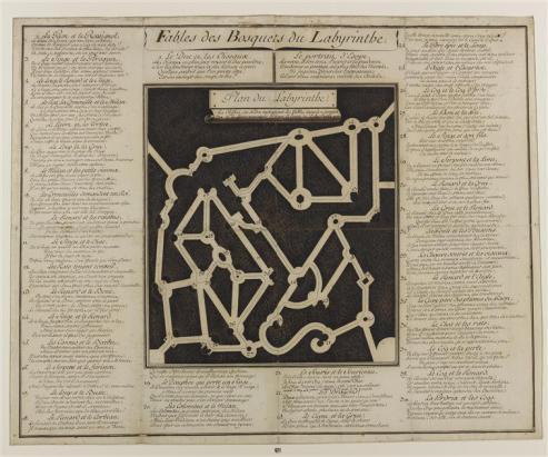 Le plus célèbre : le bosquet du Labyrinthe - auj. - auj. Bosquet de la Reine