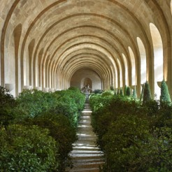 puis dans l'Orangerie couverte, et l'on sortira par le vestibule du costé du Labirinte.