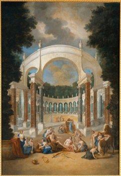 5. Vue de La Colonnade , avec Apollon et les nymphes - Jean Cotelle
