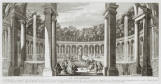 Vue du bosquet de la Colonnade dans les jardins de Versailles vers 1730, Rigaud
