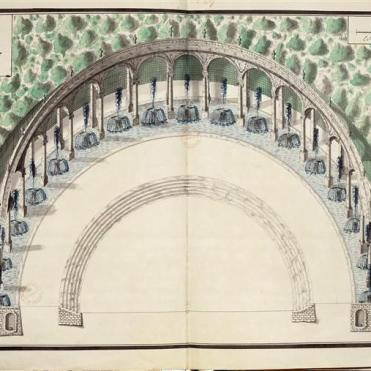 Recueil de dessins, plans et vues des villes de France .Plan des jardins de Versailles
