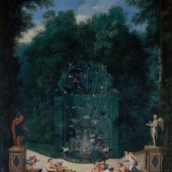 10. Vue de l'entrée du labyrinthe avec le cabinet 11 des oiseaux, des Nymphes et des amours - Jean Cotelle